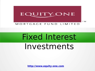 Fixed Interest Investments