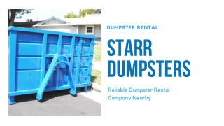 ALL ABOUT 30 YARD DUMPSTERS - STARR DUMPSTERS