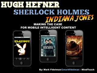 Hugh Hefner, Sherlock Holmes & Indiana Jones: Making the Case for Mobile Intelligent Content