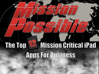The Top 12 Mission Critical iPad Apps for Business