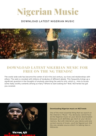 Download Latest Nigerian Music For Free On NGTrends!