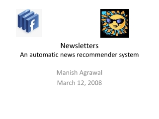 Newsletters An automatic news recommender system