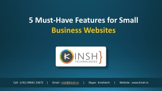 5 Must-Have Features for Small Business Websites