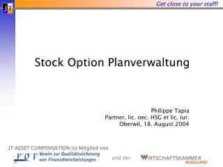Stock Option Planverwaltung