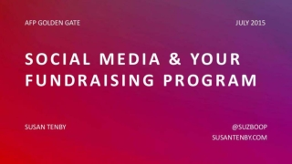 Social Media and your Fundraising Program