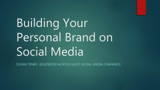 Building your personal brand on social media