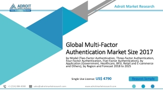 Global Multi Factor Authentication Market New Study of Trend and Forecast Report 2019-2025
