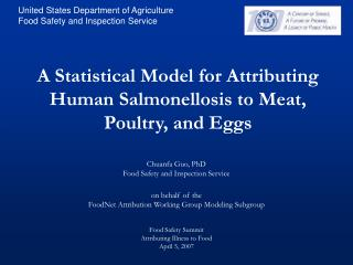 A Statistical Model for Attributing Human Salmonellosis to Meat, Poultry, and Eggs