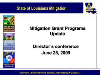 Mitigation Grant Programs Update