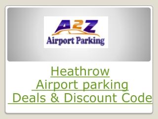 Heathrow airport parking deals & discount code