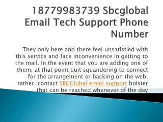 18779983739 Sbcglobal Email Tech Support Phone Number