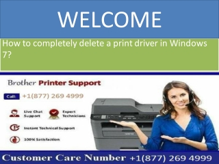 How to completely delete a print driver in Windows 7?