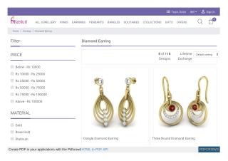 Buy diamond earrings - Earrings
