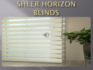 SHEER HORIZON BLINDS IN DUBAI