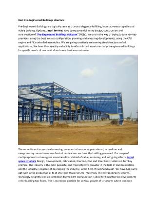 Best Pre-Engineered Buildings structure