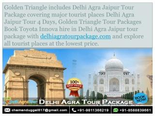 Toyota Innova Car Hire in Delhi Agra Jaipur Tour Package