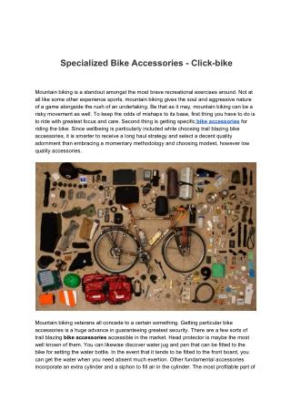 Specialized Bike Accessories - Click-bike