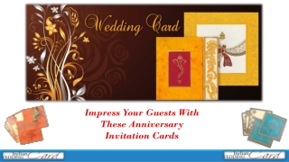 Impress Your Guests With These Anniversary Invitation Cards