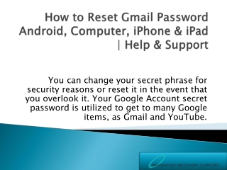 How to Recover Gmail Account Android, Computer, iPhone & iPad
