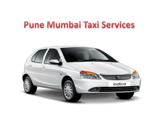 Pune Mumbai Taxi Services