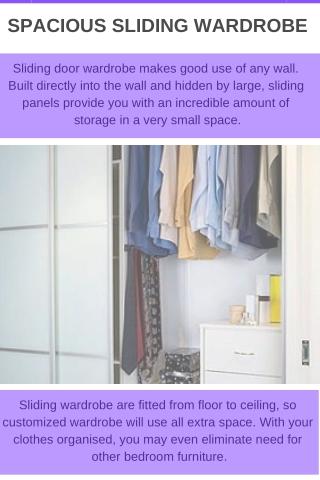 spacious sliding wardrobe