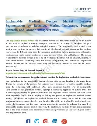 Implantable Medical Devices Market 2026 Growth, Drivers, Trends, Demand and Shares