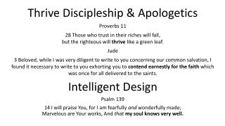 Thrive Discipleship & Apologetics Proverbs 11