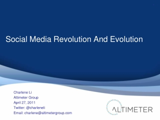 Social Media Revolution And Evolution