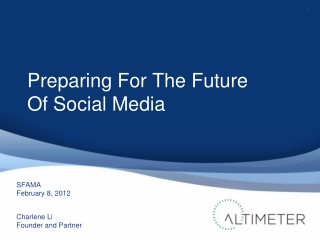 Preparing For The Future Of Social Media