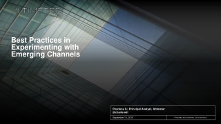 Best Practices in Experimenting with Existing Channels - Omni Digital