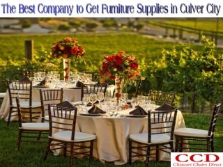 The Best Company to Get Furniture Supplies in Culver City