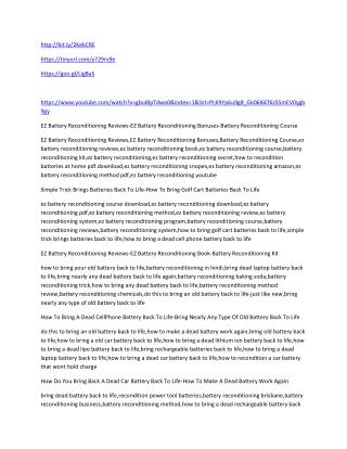 EZ Battery Reconditioning Reviews-EZ Battery Reconditioning Bonuses-Battery Reconditioning Course