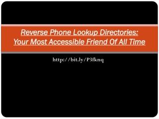 Reverse Lookup Directory