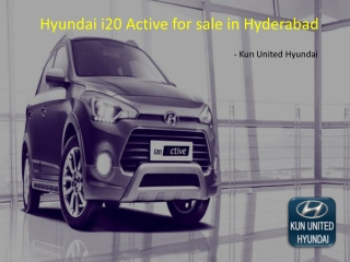 Hyundai i20 Active for sale in Hyderabad | Kun United Hyundai