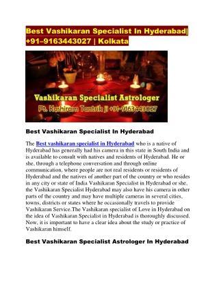 Best vashikaran speicalist in hyderabad