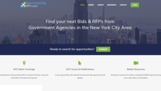 NYC Bid Opportunities | 7 Day Free Trial