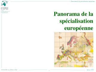 Panorama de la spécialisation européenne