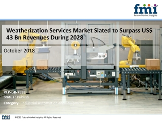 Weatherization Services Market Is Expected To Register a CAGR of 3.8 % during 2018-2028
