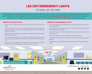 LED Exit/Emergency Lights - The Perfect Emergency Lighting Solution