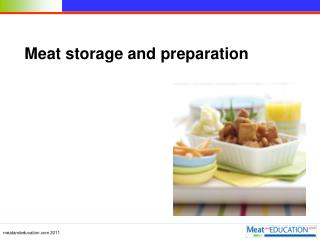 Meat storage and preparation