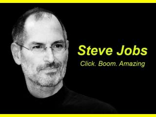 Steve jobs click boom amazing