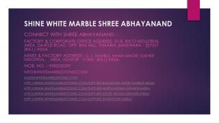 Shine White Marble Shree Abhayanand