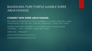 Banswara Pure Purple Marble Shree Abhayanand
