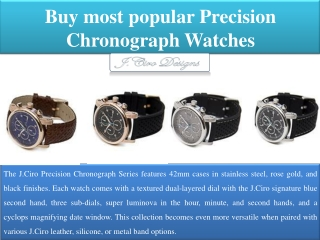 Buy most popular Precision  Chronograph Watches