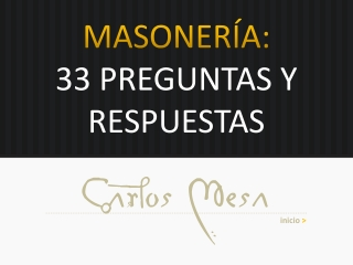 Masonería: 33 preguntas y respuestas