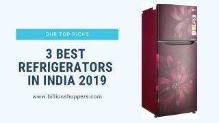3 Best Refrigerators in India 2019