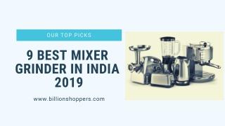 9 Best Mixer Grinder in India 2019