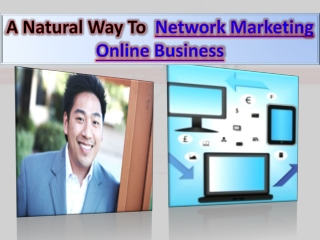 Network Marketing Online Business