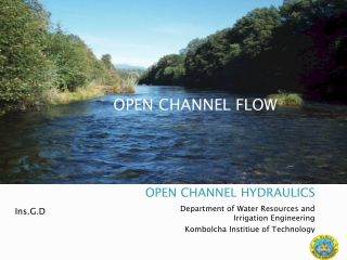 Flow in the Channel: Channel Hydraulics