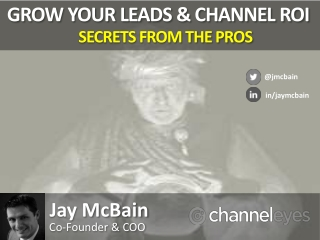Grow Leads and Channel ROI - Jay McBain / ChannelEyes